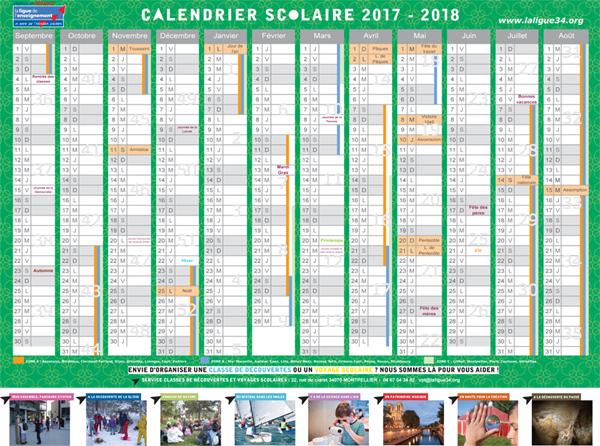 Calendrier Scolaire 2017-18